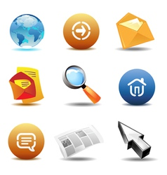 Icons for internet vector