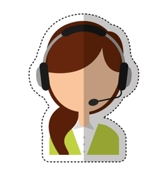Call center agent avatar vector