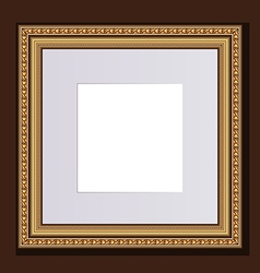 Baguette golden frame for design artworks vector