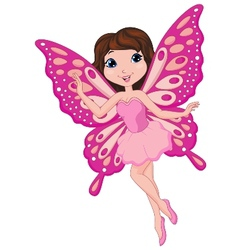 Cute fairy cartoon vector