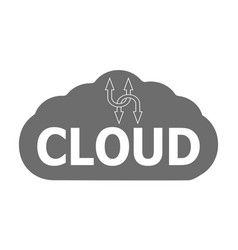 logo cloud storage data information vector image