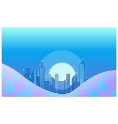 City skyline background vector