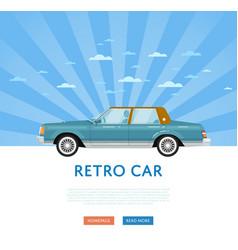 Website design with classic retro sedan vector