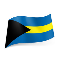 National flag of bahamas blue and yellow vector