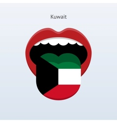 Kuwait language abstract human tongue vector