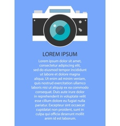 Retro and vintage camera graphic design eps10 vector