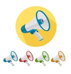 Megaphone icons set vector