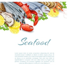 Seafood products background vector