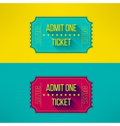 Entry ticket in modern flat design with long vector