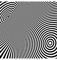 Pattern with optical  black and white vector