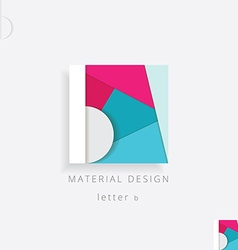 Letter b colorful design element vector