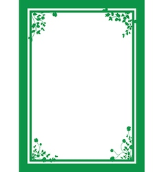 Green floral corners background vector