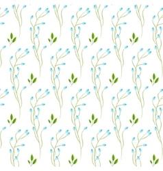 Wild fine blue flower spring field seamless vector