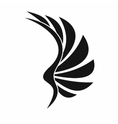 Wing icon simple style vector