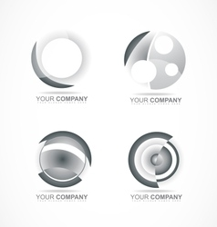 Abstract circle company logo vector