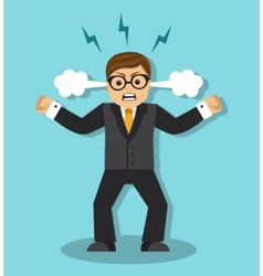 anger and irritation at work vector image vector image