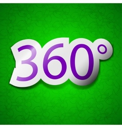Angle 360 degrees icon sign symbol chic colored vector