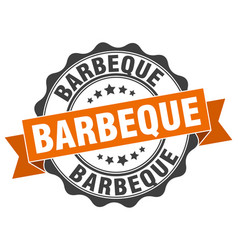 Barbeque stamp sign seal vector