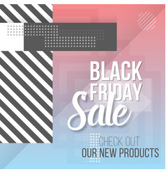 Black friday sale lettering modern paper vector