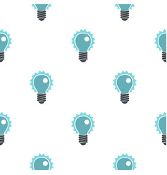 Blue electric bulb pattern flat vector