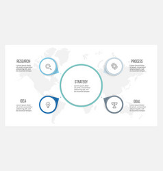 Business infographic organization chart with 4 vector