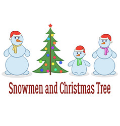 cartoon snowman set vector image