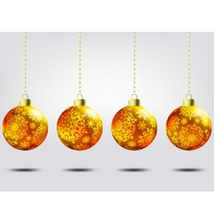 Christmas balls over elegant background EPS 8 vector image vector image