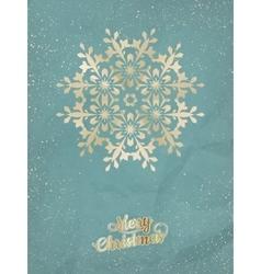 Christmas postcard with snowflake EPS 10 vector image
