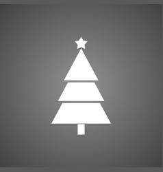 Christmas tree flat icon vector
