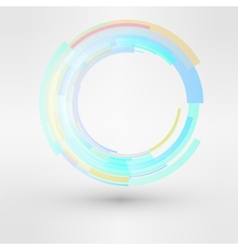 Circle looped abstract logo design template vector image vector image