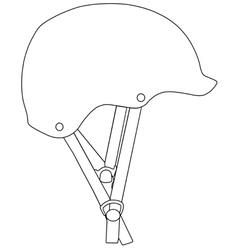 Climbing helmet vector image vector image
