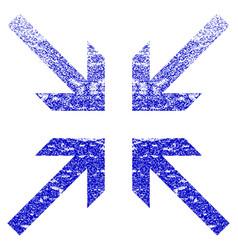 Collide arrows grunge textured icon vector