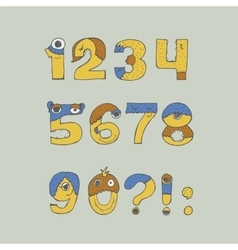 Colorful with childish numbers vector