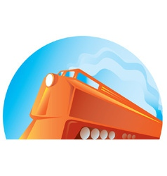 diesel train vector image vector image