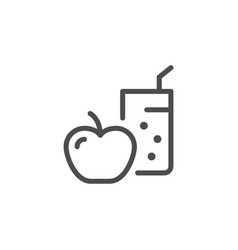 Diet line icon vector