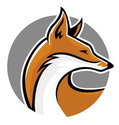 Fox mascot side vector