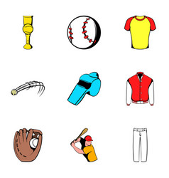Game ball icons set cartoon style vector