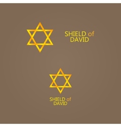 golden Magen David vector image vector image
