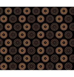 Greece flowers and circles vector image