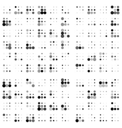 Grunge random halftones background vector image