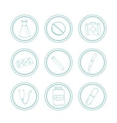 Hand drawn medical icons vector