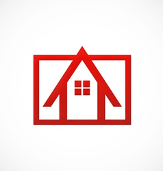 house architecture logo vector image vector image