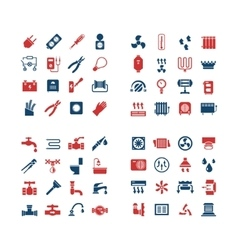 House system color icons vector image