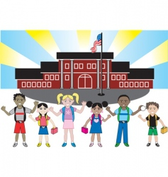 kid school vector image vector image