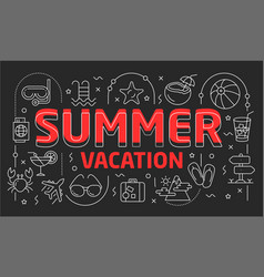 linear summer vector image vector image