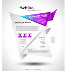 origami website layout vector image vector image