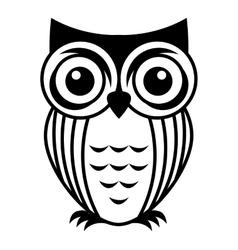 Owl bird cute icon vector