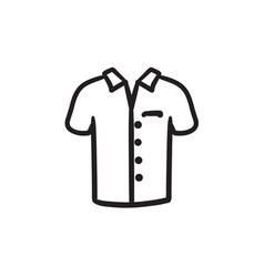 Polo shirt sketch icon vector