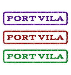 Port vila watermark stamp vector