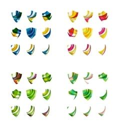 Set of company logotype branding designs shield vector image vector image